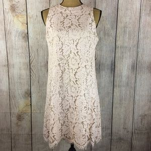 Vince Camuto Nuce Lace Overlay Sheath Dress Sz *